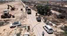 بالصور..حماس تقيم منطقة امنية عازلة بين قطاع غزة ومصر