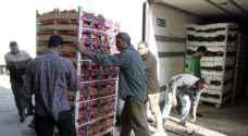 ١٢٥٠٠ طن صادرات الأردن من الخضار والفواكه خلال أيام العيد