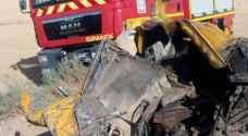إصابتان بحادث تصادم في مادبا..صور
