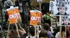 الالاف يتظاهرون في لندن ضد حكومة تيريزا ماي