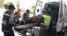 إصابة ١٢ شخصا بحادث تصادم في محافظة جرش