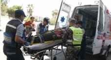 إصابة (١٧) شخص اثر حادث تدهور ( ديانا ) في اربد