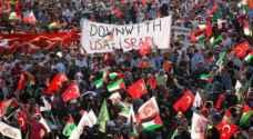 الآلاف يتظاهرون وسط اسطنبول دعماً للأقصى