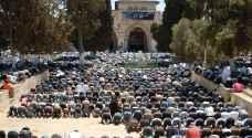 الاف المصلين أدوا صلاة الجمعة بالمسجد الاقصى