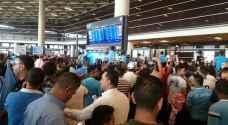 بالفيديو.. الجماهير تستقبل الفيصلي في المطار