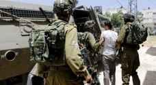 الاحتلال يعتقل ١٤ فلسطينيا بالضفة الغربية