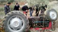 وفاة شخص اثر تدهور 'آلية زراعية' في مادبا