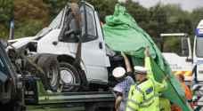 أوقع ٨ قتلى.. بريطانيا تشهد أسوأ حادث مرور منذ ربع قرن ..صور