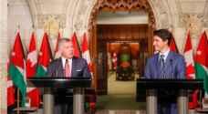 الملك يجري مباحثات مع رئيس الوزراء الكندي في أوتاوا