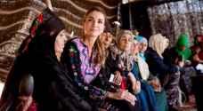 الملكة رانيا تزور الحلابات