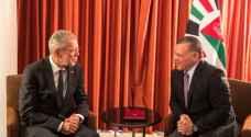 الملك يلتقي الرئيس النمساوي