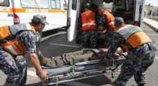 ٦٤ إصابة نتيجة ١٢٧ حادثاً مختلفاً