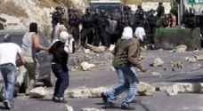 اصابات خلال مواجهات بين الشبان الفلسطينيين وقوات الاحتلال بالقدس