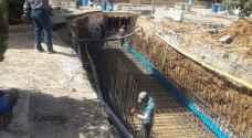 الامانة تواصل تنفيذ شبكات تصريف مياه أمطار بكلفة ١٠ مليون دينار