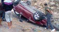 وفاتان و ٣ إصابات بحادث تدهور في العقبة