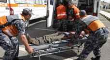 ٨٧ إصابة نتيجة ١٦٥ حادثاً مختلفاً