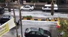تساقط خفيف للأمطار في إربد..فيديو وصور