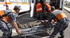 ٥٥ إصابة نتيجة ١١٧ حادثاً مختلفاً