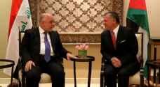 الملك: مستعدون لدعم العراق للحفاظ على وحدة أراضيه وأمنه