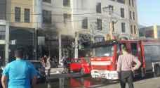 ٥ إصابات بحريق في شارع مكة ..صور
