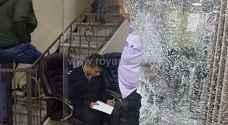 اصابة شخص بإطلاق نار على احد المحال التجارية وسط مدينة اربد ..صور
