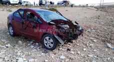 وفاتان بحادث تصادم على طريق اربد الزرقاء.. صور
