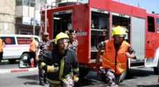 إصابة شخص اثر حريق منزل في جرش