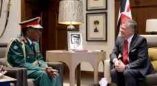 الملك يستقبل رئيس أركان قوات الدفاع التنزانية