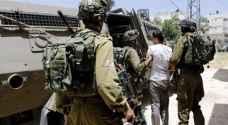 الاحتلال يعتقل ١٣ فلسطينيا