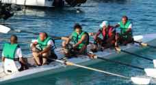 انقاذ ٤ مشاركين برياضة التجديف البحرية في العقبة