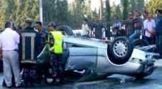 ٨ اصابات بتدهور مركبة في مادبا