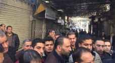 تجار اقدم سوق في عمان يغلقون محالهم التجارية.. صور