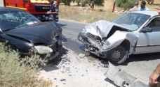 إصابة ٧ أشخاص اثر حادث سير في مادبا