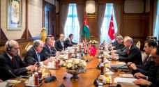 مباحثات أردنية تركية موسعة بقيادة الملك وأردوغان