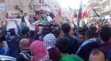 الأردنيون يحتشدون أمام المسجد الحسيني لنصرة القدس .. شاهدوا الصور