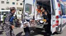 ٥٩ إصابة نتيجة ١٠٣ حادثا مختلفا خلال الـ ٢٤ الماضي
