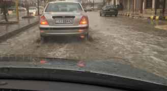 تساقط الامطار - الرمثا