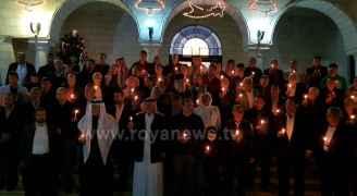 وقفة احتجاجية للطوائف المسيحية 'دعما للقدس' في العقبة