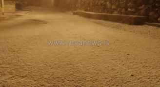 بالصور: تساقط كثيف للثلوج في عبين بعجلون