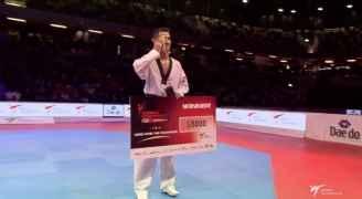 ابو غوش يحقق الميدالية الذهبية في سلسلة الجائزة الكبرى ....