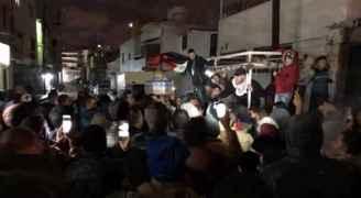وقفة احتجاجية في مخيم الوحدات ضد قرار ترمب ..صور