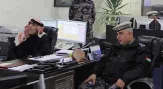 الزعبي يطمئن على إجراءات الدفاع المدني في الظروف الجوية السائدة