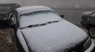 شاهد بالفيديو والصور تساقط الثلوج في عجلون