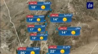 بالفيديو: ارتفاع طفيف على درجات الحرارة السبت