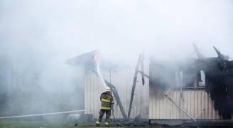 حريق بأكبر مركز لجوء في السويد