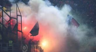 توقف مباراة إيطاليا وألبانيا بسبب المفرقعات