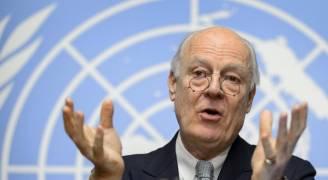 دي ميستورا يحض ايران وروسيا وتركيا للحفاظ على وقف النار في سوريا