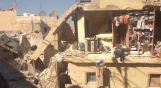 مصرع طفلة بانهيار عمارة في عمان