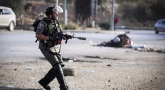 إصابة ثلاثة فلسطينيين خلال تفريق مسيرة في رام الله