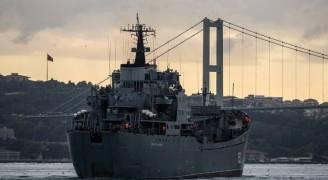غرق سفينة حربية روسية اصطدمت قبالة إسطنبول التركية